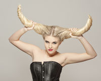Shedevil hairstyle Stock Photo
