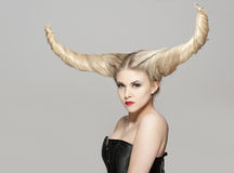 Shedevil hairstyle Stock Photography