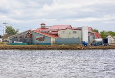 Shediac Lobster Shop. The Shediac Lobster Shop located in Shediac, New-Brunswick, is a large lobster distributer and exporter established in 1953 Stock Images