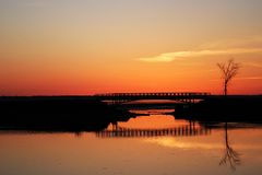 Shediac Sunset Stock Photography