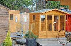 Sheds And Chalets. This photo shows some sheds chalet style Stock Image