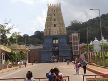 Sheelanagar temple visakhapatnam, india. Indian traditional temple of lord vishnu,visakhapatnam Stock Image