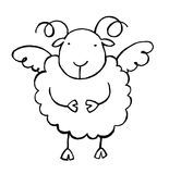 Sheep 02 b/w Stock Image
