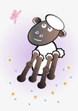 Sheep. Cartoon style illustration of a sheep Royalty Free Stock Photography