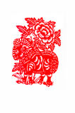 Sheep. This paper-cut shows the sheep, one of the Chinese Zodiac Royalty Free Stock Photos