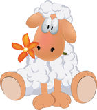 Sheep. Flower blossom cartoon chamomile Royalty Free Stock Image