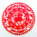 Sheep. The paper cutting. The Chinese Zodiac Royalty Free Stock Photo