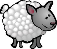 Sheep. A cute sheep in a rough and ready style! No meshes used, all blends or gradients Stock Photography