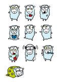 Sheep. Of different activities - vector illustration Stock Images