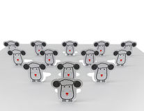 Sheep. The illustration of sheep on white background Royalty Free Stock Photo