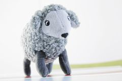 Sheep. Silver sheep. Toy for children Royalty Free Stock Photos