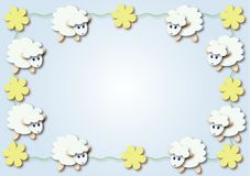 Sheep. Illustration easter frame Stock Photos