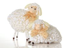Sheep. Easter sheep, studio isolated on white Royalty Free Stock Photo