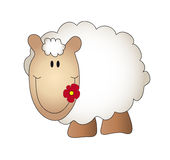 Sheep. Illustration of a nice cartoon sheep Stock Photography