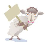 Sheep. Chinese zodiac - illustration of chinese traditional birthday animal Royalty Free Stock Photo