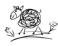 Sheep. Funny illustration of the sheep Stock Photo