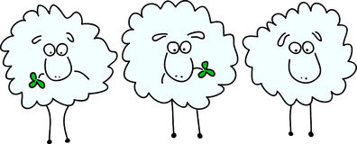 Sheep animation Royalty Free Stock Photo