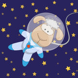 Sheep astronaut Stock Image