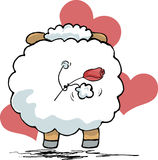 Sheep from back. Vector illustration of sheep from back Royalty Free Stock Photography