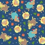 Sheep background christmas. Vector graphic illustration design art Stock Photo