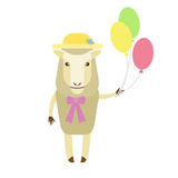 Sheep with balloons Stock Photography