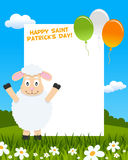 Sheep and Balloons Photo Frame Royalty Free Stock Image