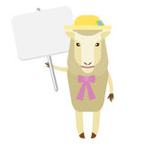 Sheep with banner Stock Image