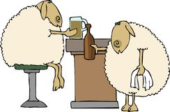 Sheep bar Royalty Free Stock Image