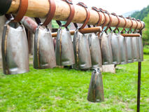 Sheep bells. Hanging sheep bells used as a melodic instrument Stock Photos