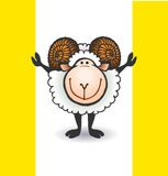 Sheep with big horns Royalty Free Stock Photography