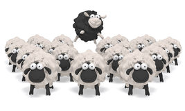 Sheep black  illustration 3D Royalty Free Stock Images