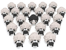 Sheep black  illustration 3D Stock Photos