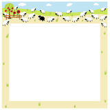 Sheep border Royalty Free Stock Photo