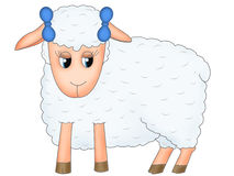 Sheep with bows Stock Image