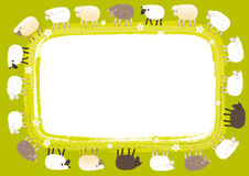 Sheep card Royalty Free Stock Photography