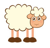 Sheep cartoon. Cute sheep cartoon isolated over white background. vector Royalty Free Stock Image