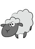 Sheep cartoon. Character looking silly Royalty Free Stock Photography