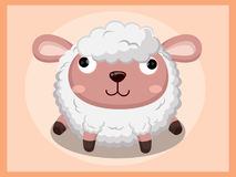 Sheep Cartoon. Funny cartoon and vector animal characters Royalty Free Stock Photo