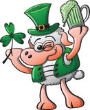 Sheep Celebrating Saint Patricks Day Stock Images
