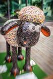 Sheep charity moneybox Stock Photo