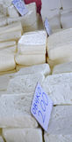 Sheep cheese in a market Stock Images