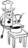 Sheep Chef  funny  illustration Royalty Free Stock Photography