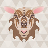 Sheep. Chinese horoscope sign. Vector illustration in ethnic style vector illustration