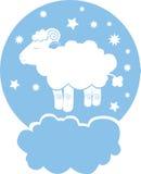 Sheep on cloud Stock Image