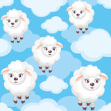Sheep and clouds Royalty Free Stock Photos