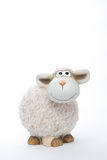 Sheep coin bank. On white background Royalty Free Stock Image