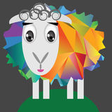 Sheep. Colorful illustration with cute sheep on a dark background Stock Photography