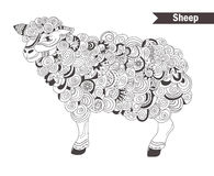 Sheep. coloring book Royalty Free Stock Photos