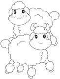 Sheep coloring page Royalty Free Stock Photo