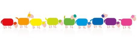 Sheep Colors Comic Royalty Free Stock Image